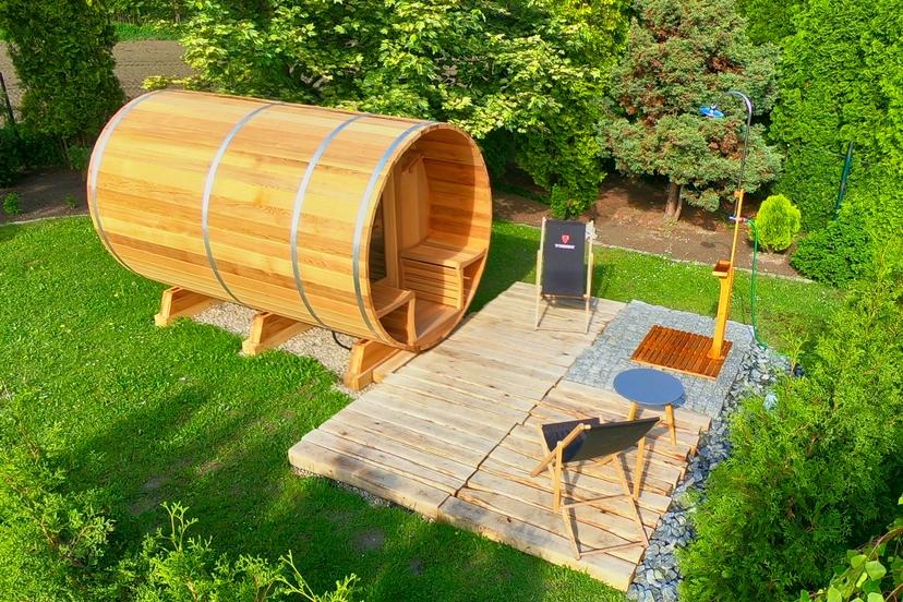 W Mega Sauna beczka - dlaczego taki kształt? YL39